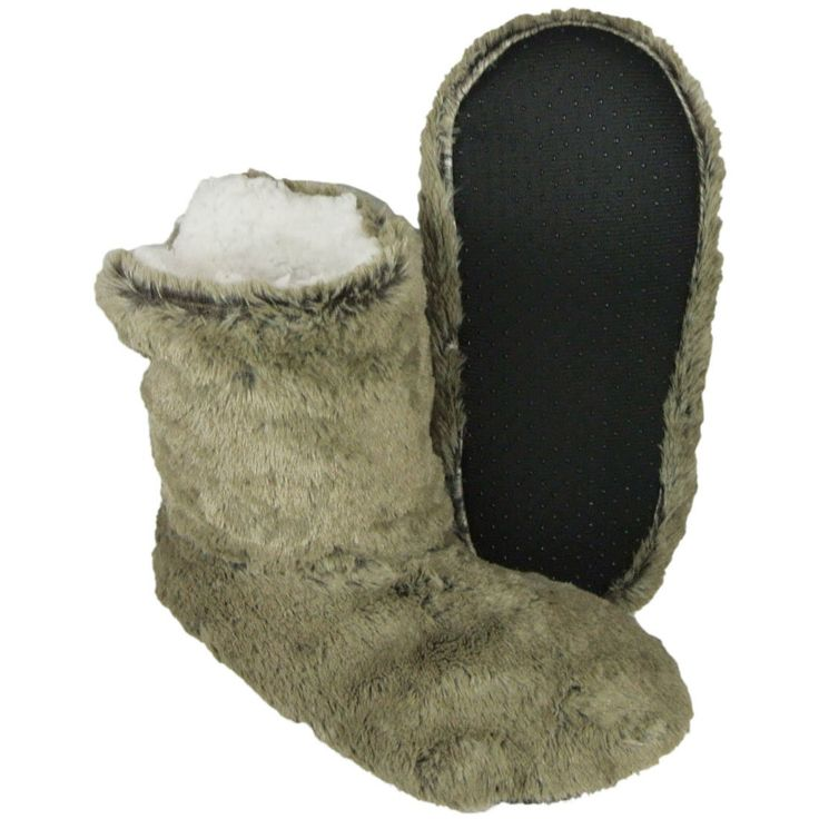 New Men's Camel Warm Cozy Sheeps Woolen Boots Slippers Size  2 3 4 5 6 7 8