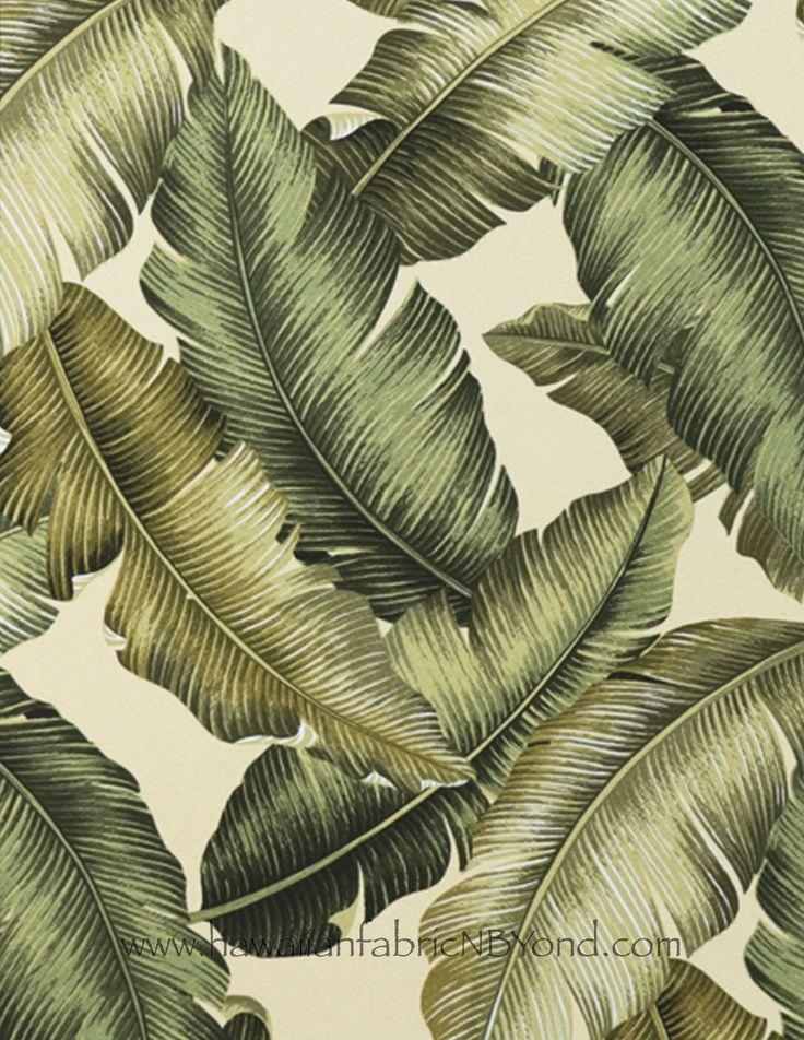 Banana leaf Upholstery fabric #tropical #house #homedecor #Hawaiian #fabric #upholstery #polster #tapisserie #banana #botanical
