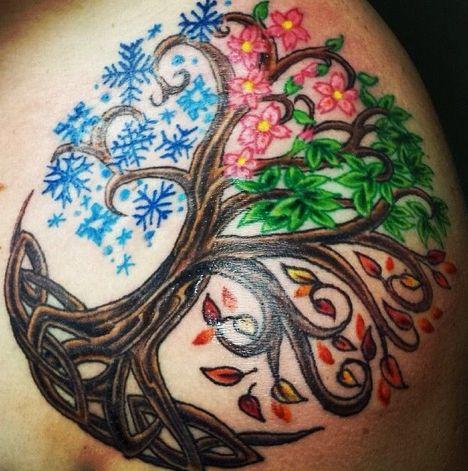 four season tree tattoo - Google Search