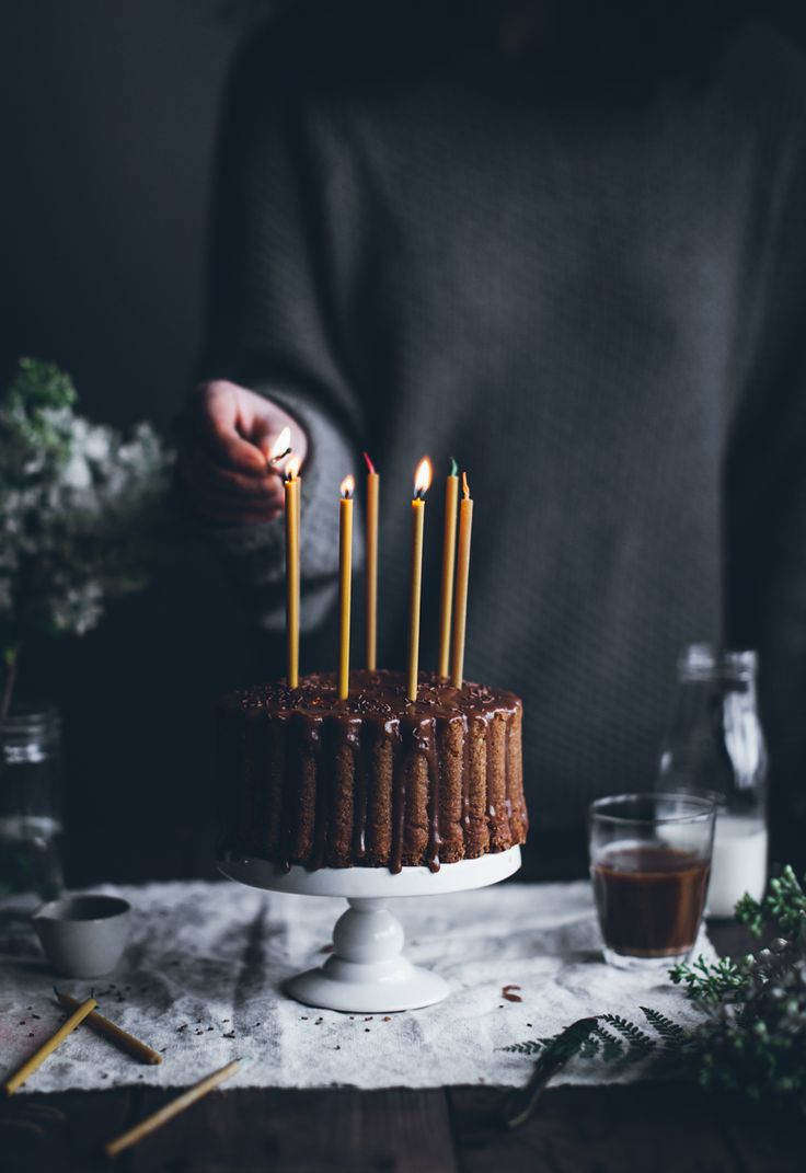 Fint med bivaxljus i kakan!