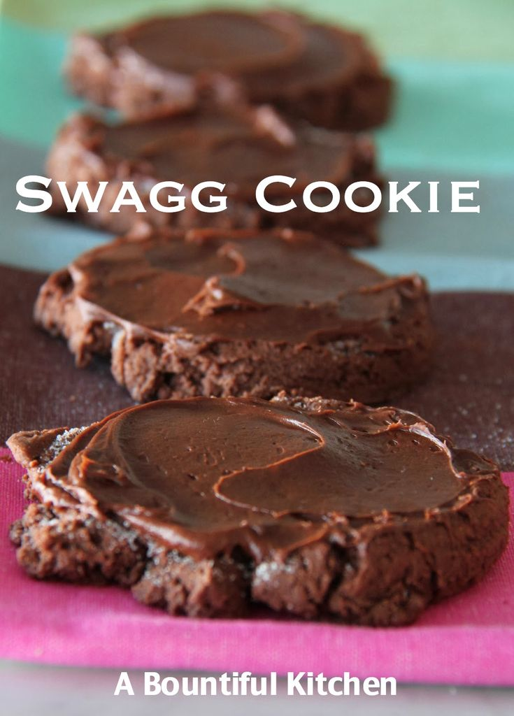 Must try this chocolate variation on Swig's sugar cookie! Thanks to the blog A Bountiful Kitchen: Swagg Cookie
