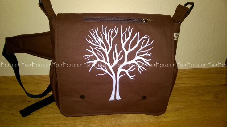 Hand painted 2in1 bag for baby carrying
