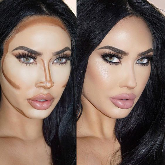 Easy Contouring Makeup Ideas for a Glorious Look ★ See more: https://makeupjournal.com/easy-contouring-makeup-ideas/