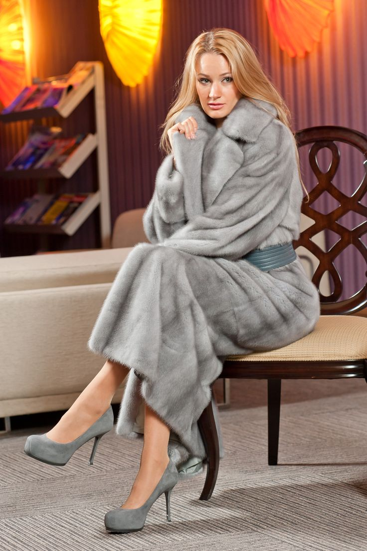 Saphire mink coat