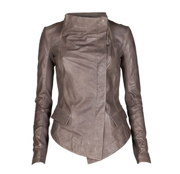 Grey leather jacket <3