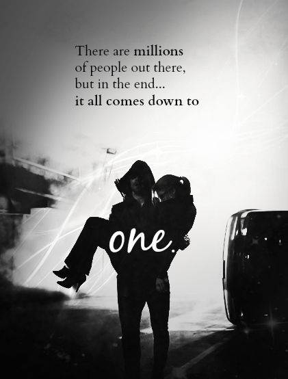 There are millions of people out there, but, in the end, it all comes down to one. #Olicity #Arrow