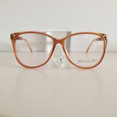Christian Dior orange Vintage #Glasses #vintage #Dior