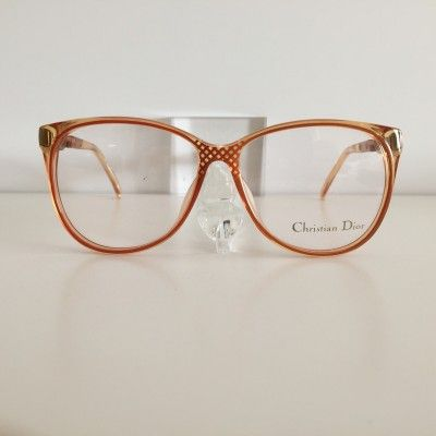 Christian Dior orange Vintage #Glasses #vintage #Dior