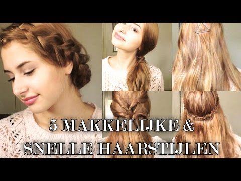 5 snelle & makkelijke haarstijlen || Americole.nl - YouTube