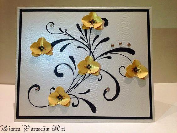 Handmade card with Swarovski elements