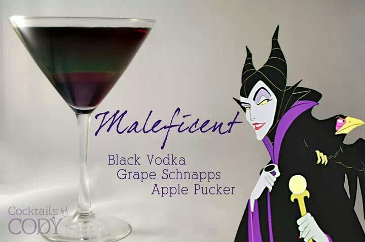 Maleficent sleeping Beauty theme party drink
