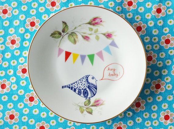 Vintage plate with a twist