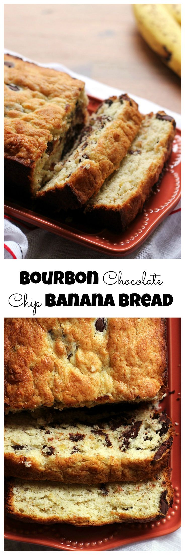 All good things come together in this bourbon chocolate chip banana bread – it makes the perfect morning treat!