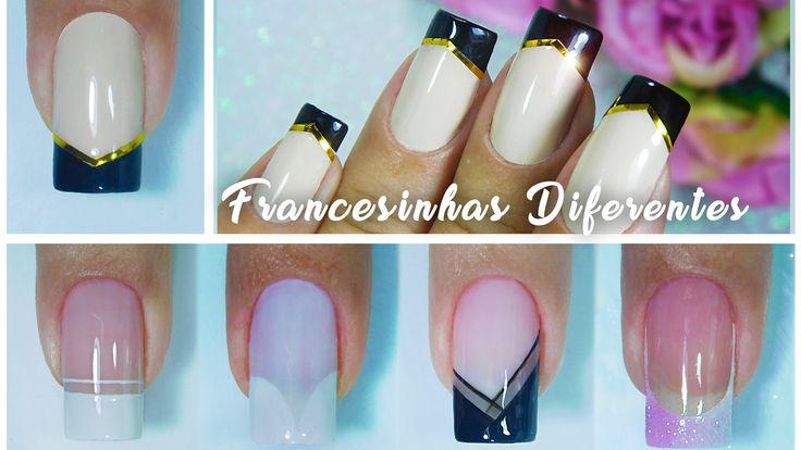 Passo a passo 5 Francesinhas Diferente | French nails | Aline Makelyne