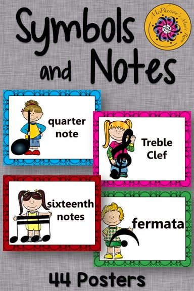 Elementary Music Bulletin Board! Colorful display of symbols and notes. Perfect for back to school!