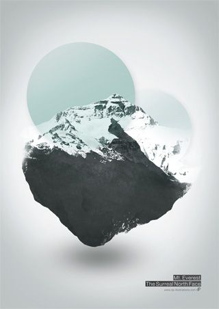 Mt. Everest - The Surreal North Face: Graphic Design, North Faces, Illustration, Art Prints, Poster, Face Art, Mount Everest, Surreal North