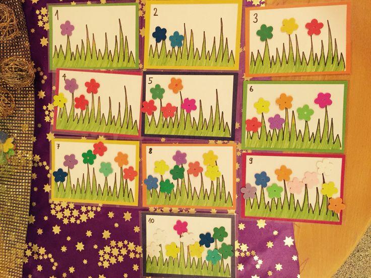 Blumen nach Zahlen legen