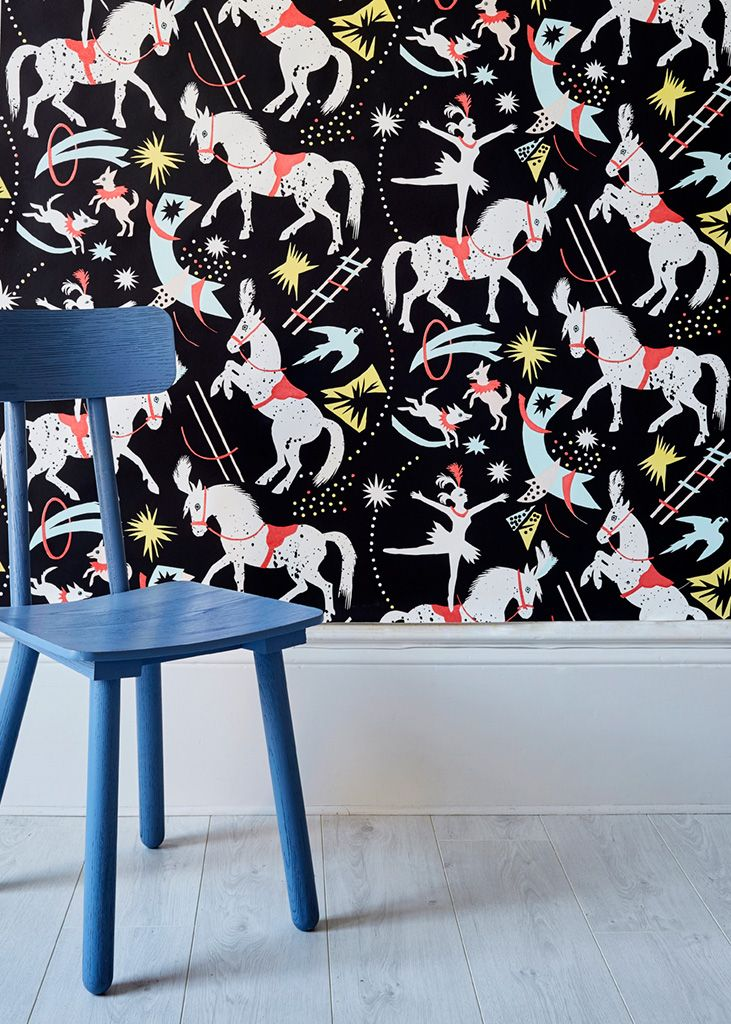 Mark Hearld's 'Cirque D'Hiver' wide width wallpaper for St Jude's
