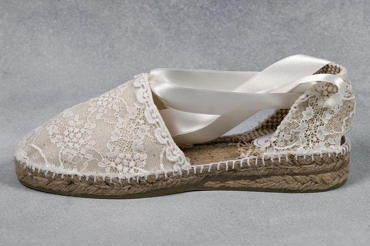 Alpargatas de novia de Alpargatas Luz Martin