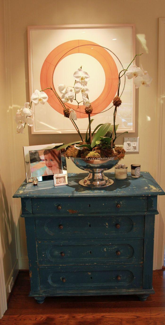 Rustic blue dresser