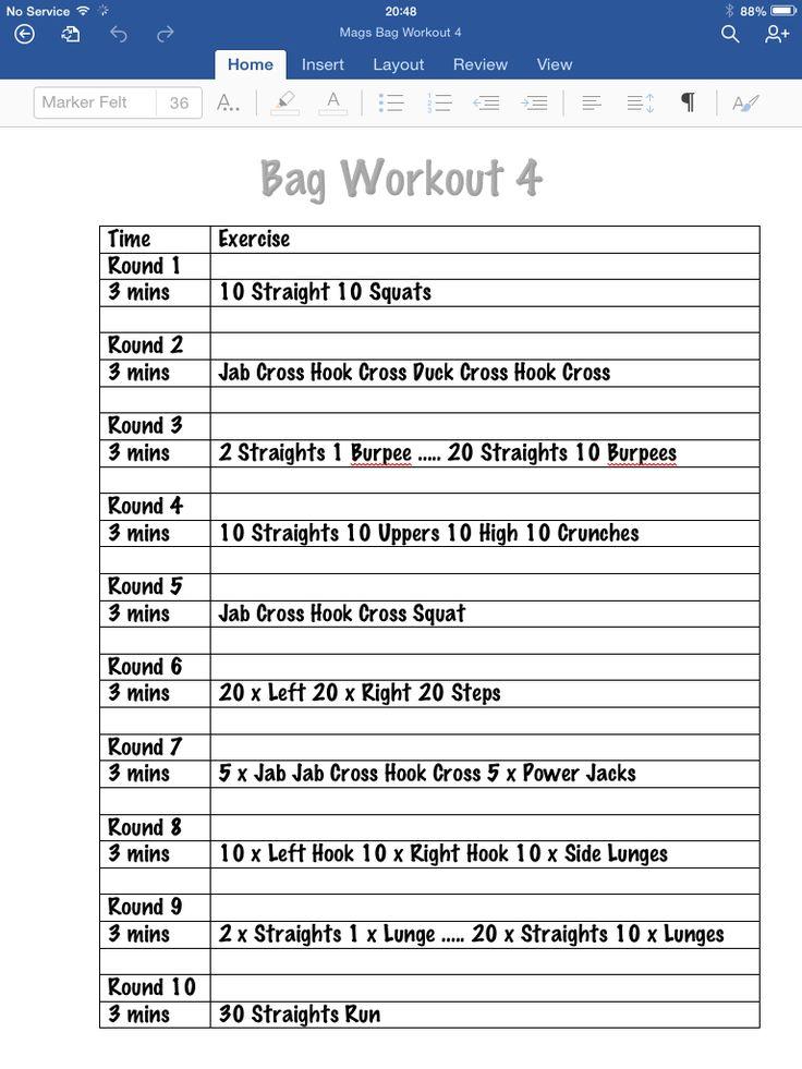 Tomorrows workout :)                                                                                                                                                      More