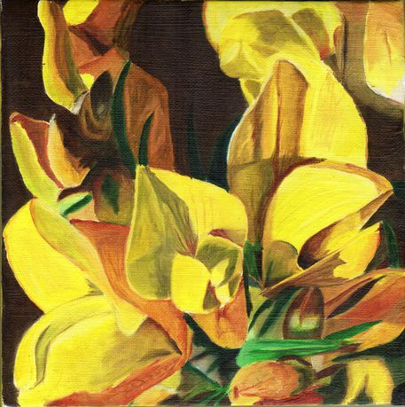 'Gorse' by 24steps-art-and-design on artflakes.com as poster or art print $6.48  #gorse #yellowflowers