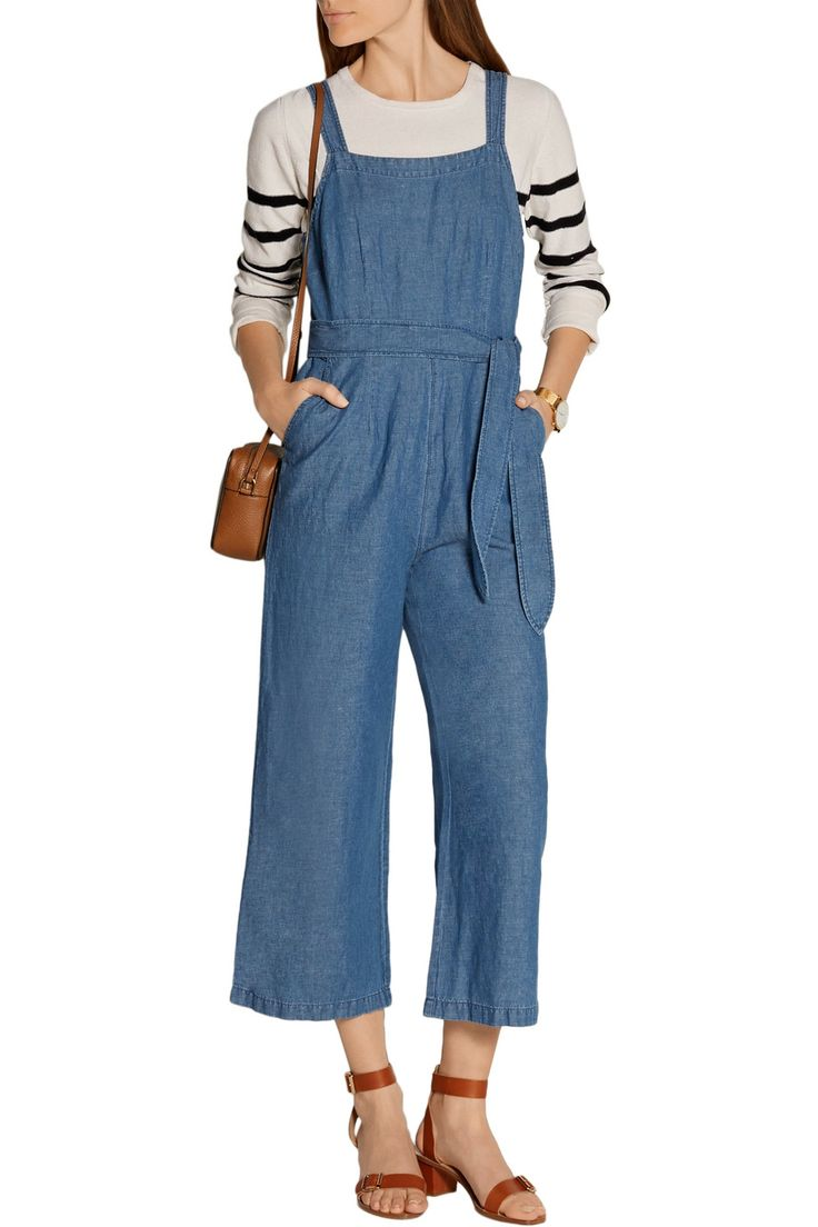 Shop on-sale Madewell Cotton and linen-blend chambray jumpsuit. Browse other discount designer Jumpsuits & more on The Most Fashionable Fashion Outlet, THE OUTNET.COM