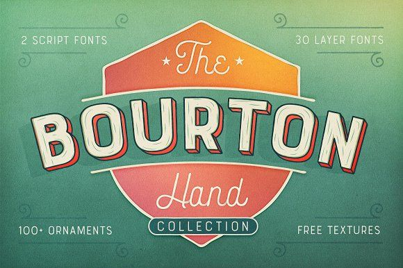 Bourton Hand Font + BONUS Textures by Kimmy Design on @creativemarket