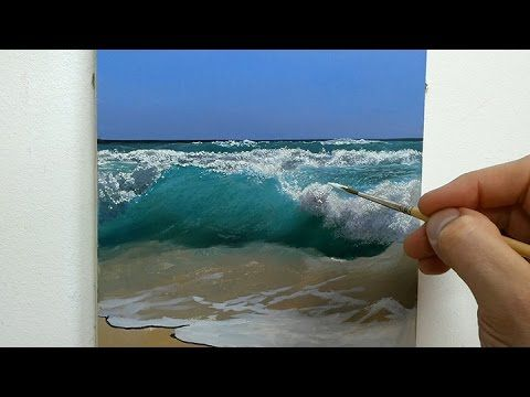 PAINTING TUTORIAL Acrylic Seascape Techniques | Katie Jobling Art - YouTube