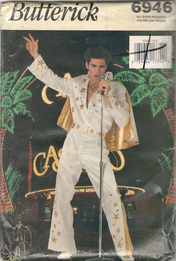 Butterick 6946 Mens Elvis Costume Pattern Viva Las Vegas