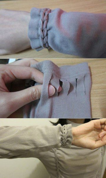 Декорируем растянувшиеся рукава