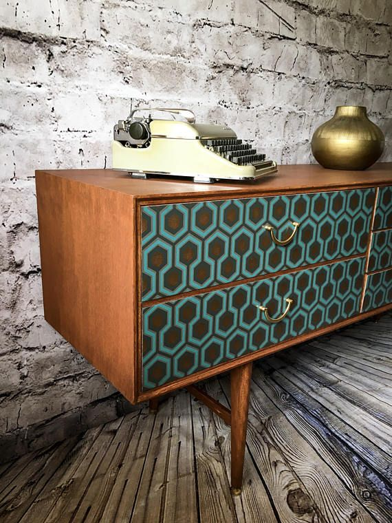 Upcycled Vintage Retro Sideboard Tv Stander Mit Mid Century