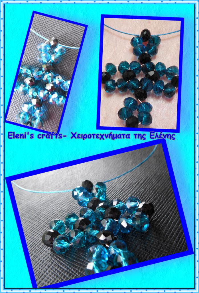 cross made by wire and beads