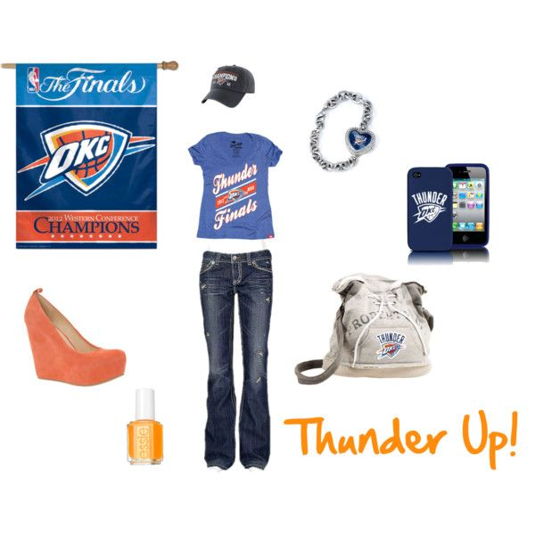 """OKC Thunder Outfit"" by jbalkin on Polyvore"