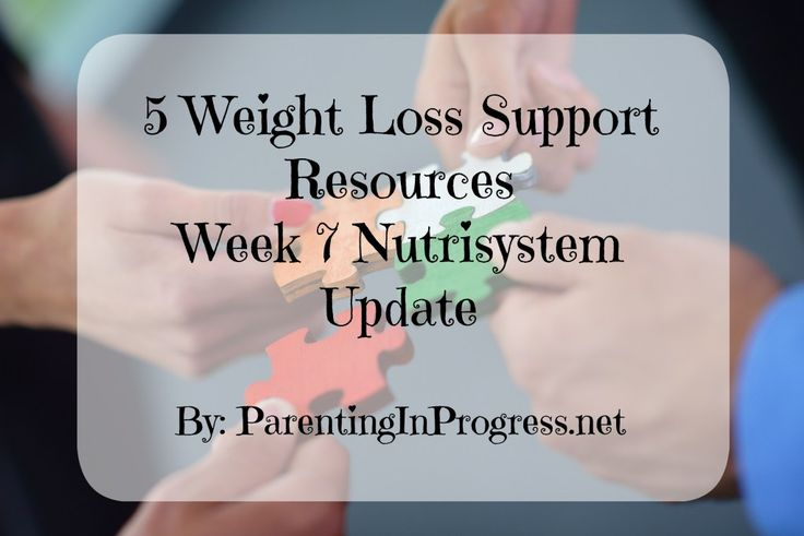 Five Weight Loss Support Sources & Week 7 Nutrisystem Update