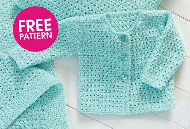 Free pattern: crochet a cardigan