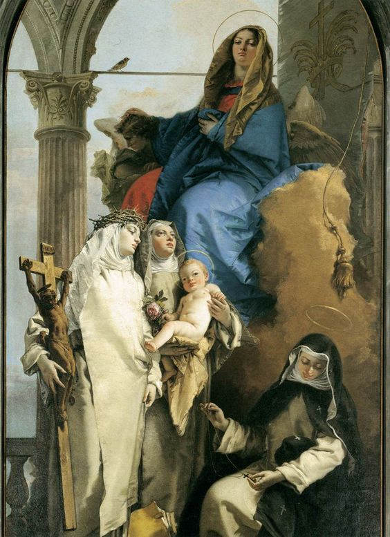 "coriesu: "" Virgin Appearing to the Dominican St Rose of Lima, St Catherine of Siena and St Agnes of Montepulciano Tiepolo –1748 """