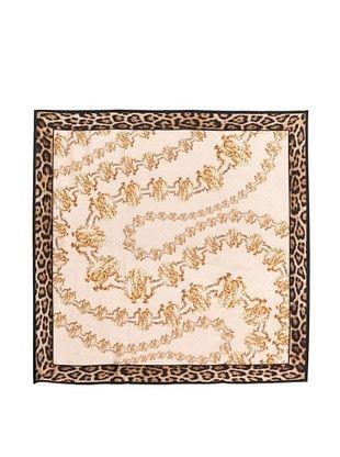 66% OFF Roberto Cavalli Women's Silk Twill Printed Scarf, Pink