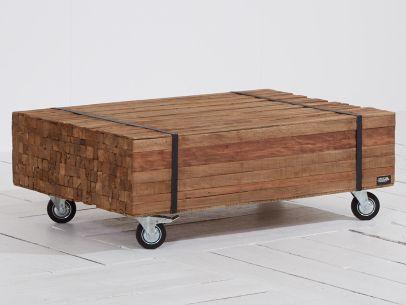 ROUGH-R lounge tuintafel met wiel 110x70x34cm