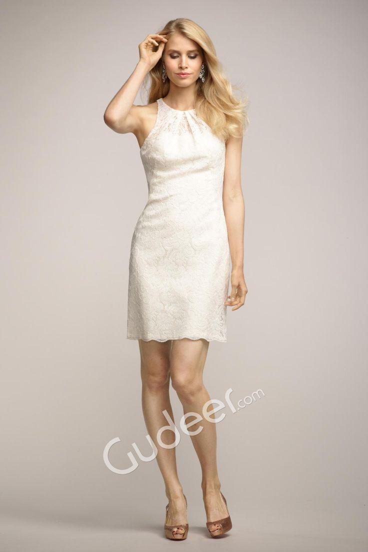 138 best bridesmaid dresses images on pinterest back to basics short sleeveless crew neck ivory lace bridesmaid dress with keyhole back ombrellifo Gallery