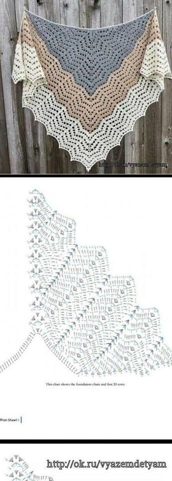370 best Bufandas y Cuellos con patron images on Pinterest | Crochet ...
