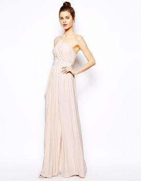 Bild 1 von ASOS – Langes, verziertes One-Shoulder-Kleid