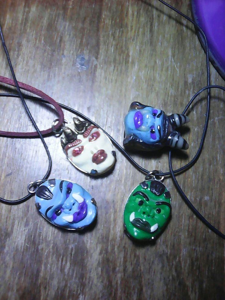 Orc head pendants
