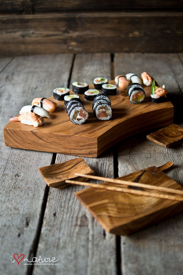 Handcrafted sushi board