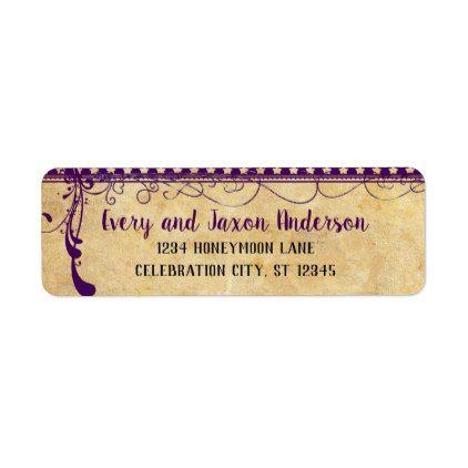 Medieval Renaissance Ultra Violet Return Address Label - return address gifts label labels cards diy cyo