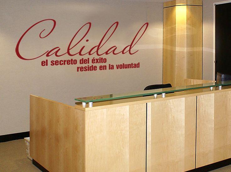 Vinilos paredes para la oficina frases pinterest for Oficina de bienestar social y familia