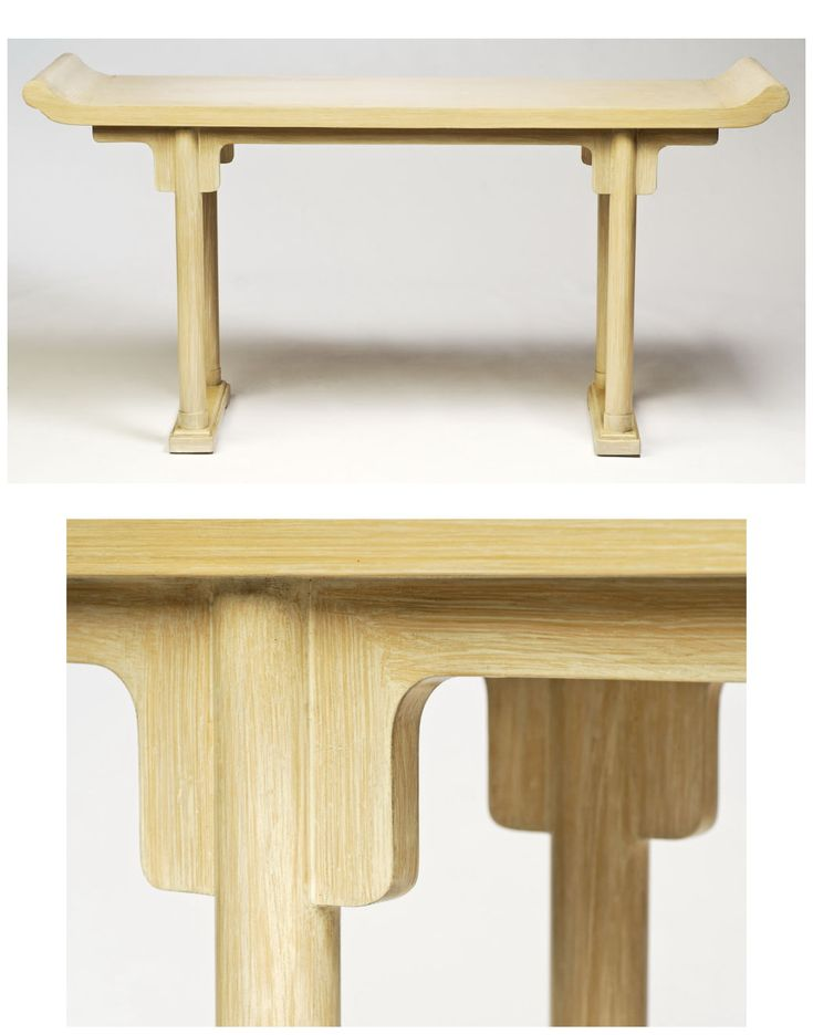 Cerused Finish Chinese Altar Table