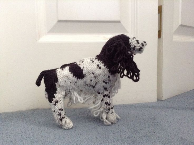 Isobel's Springer Spaniel.  Knitting Pattern from the Best in Show series.