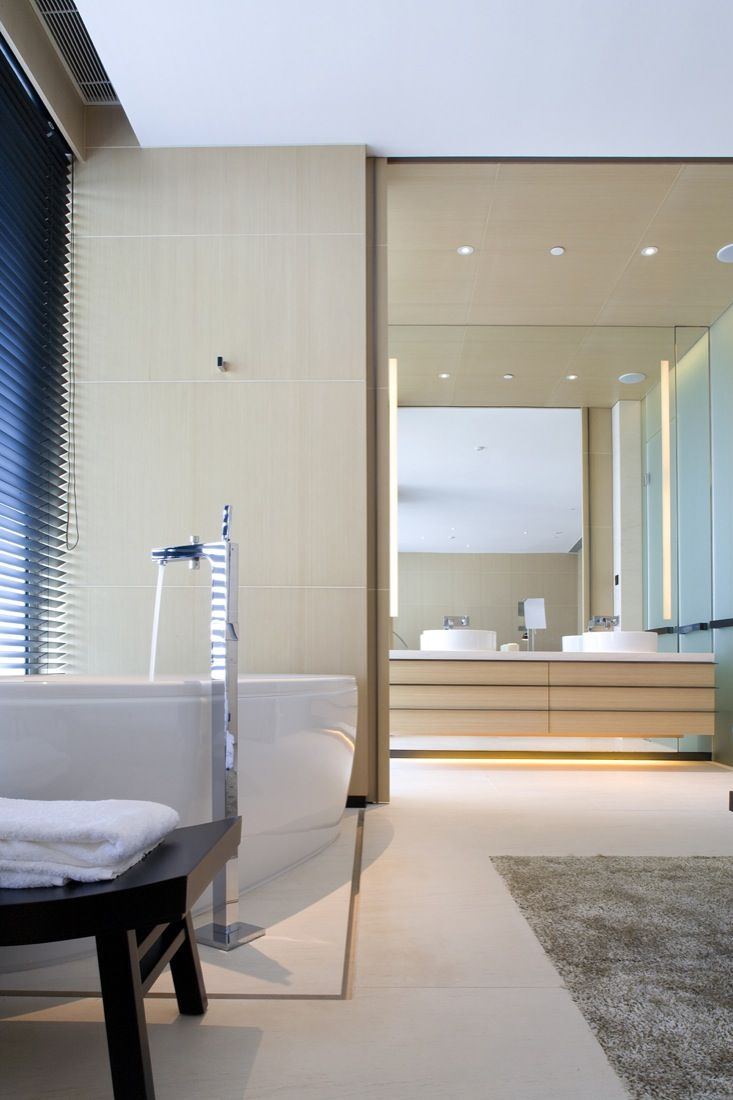 Bathroom inside the East Hotel in Hong Kong by CL3 Architects _