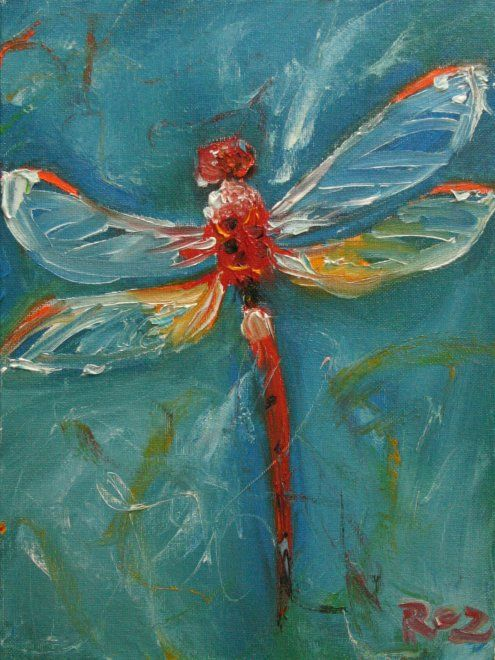 i don't really like dragonflies but i like this painting …